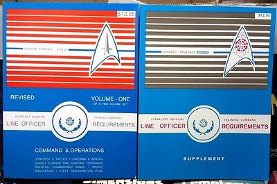 1980s Star Trek Officer Requirements Set of 2 Books- Unread-FREE S&H