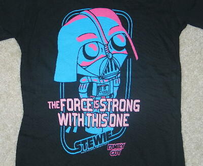 Family Guy Star Wars Force Is Strong Baby Doll T-Shirt--MEDIUM