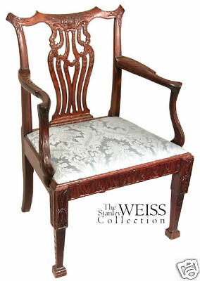 SWC-Finely Carved Chippendale Armchair, Ireland c.1780
