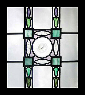 Victorian Rondel Antique English Stained Glass Window