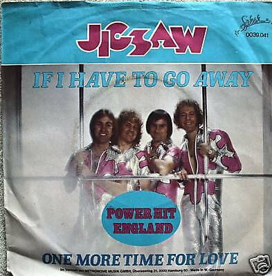 """7"""" 70s RARE! JIGSAW : If I Have To Go Away // VG+? \"""