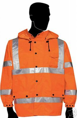 Ansi Class 3 Safety Windbreaker Jacket Orange 285753 Xl