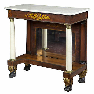 SWC-Rosewood & Marble Pier Table, New York, c.1830