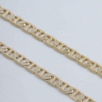 """18"""" 24kt GOLD EP DIAMOND CUT MARINER CHAIN NECKLACE"""