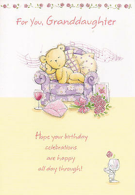 For You Granddaughter Juvenile Birthday Card Cute Grand Daughter
