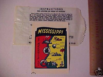 MISSISSIPPI station wagon//camper MS state travel decal