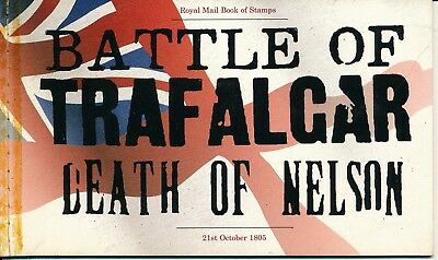 U.k 2005 Across The Battle Of Trafalgar Booklet Mnh