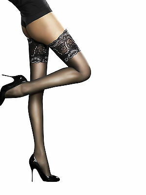 Fiore Sandrine Golden Line Deep Lace Top Hold Ups 20 Denier 5 color Choices