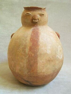 LARGE Pre-Columbian CALIMA ANTHROPOMORPHIC-EFFIGY JAR, circa 1200 AD - 1600 AD