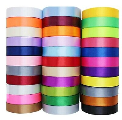 "20 ROLLS  SATIN RIBBON, 20 Different COLORS , 25 MM/1"", Wholesale Value"