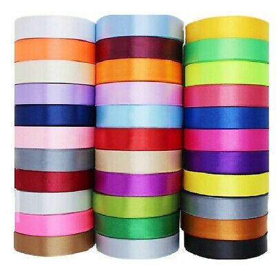 "24 ROLLS  SATIN RIBBON, 24 Different COLORS , 25 MM/1"", Wholesale Value"