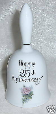 Designers Collection Porcelain 25th Anniversary Bell