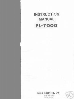 YAESU FL 7000 INSTRUCTION MANUAL