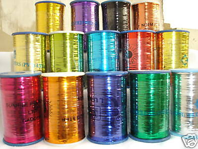10 Spools of LUREX High Quality Thread 3000 meters each, 10 Different Colours