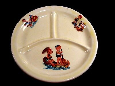 Vintage Canonsburg SUMMER PLAY TIME Child's Grill Plate