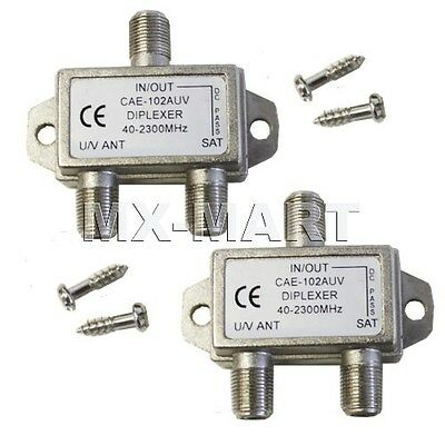 Two Diplexer Splitter Combine Cable Tv Satellite Switch