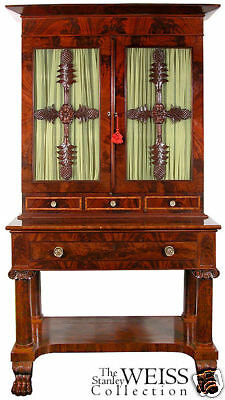 SWC-Classical Carved Bookcase on Stand, Baltimore, 1835
