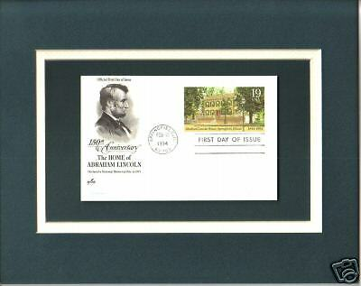 Springfield Illinois Lincoln's Home 1st Day Cover Lincoln's Illinois Home Stamp