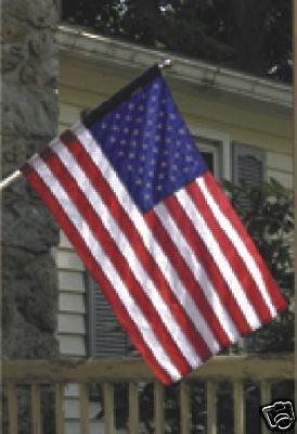 """Wood Grain Simulated 1"""" X 6' 2-Piece Outdoor Spinning Aluminum Flagpole"""