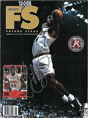 Antonio Mcdyess Autograph Signed Rc Magazine Nuggets