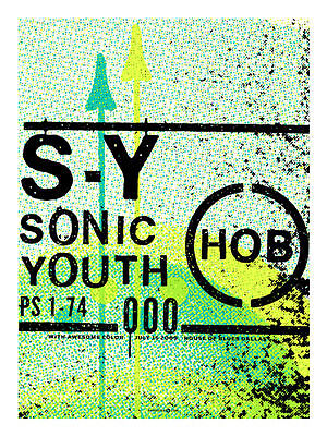 Sonic Youth July 2009 Limited Edition Concert Poster