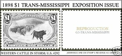 U.s. #292 1898 Trans-Mississippi Reproduction