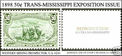 U.s. #291 1898 Trans-Mississippi Reproduction