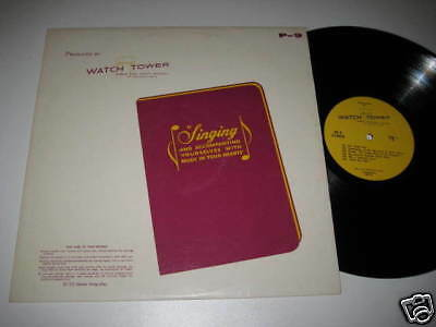 LP/WATCH TOWER/BIBLE and Tract Society/Singing/P-9