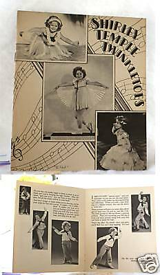 1936 SHIRLEY TEMPLE BOOKLET PHOTOS TWINKLETOES NICE
