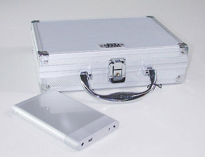 Aluminium Abs External Hard Drive Carry Case Silver