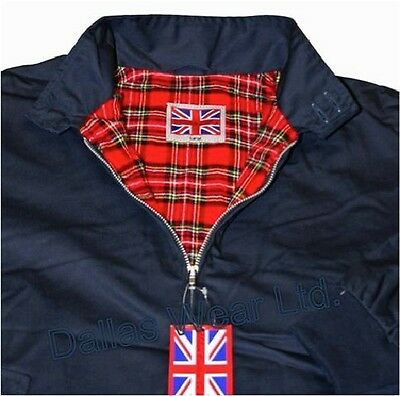 Harrington Jacket Xs S M L Xl Xxl 3Xl 4Xl 5Xl Navy Blue