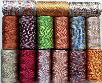 15 Multi Shaded Embriodery Thread Spools  15 different Colours