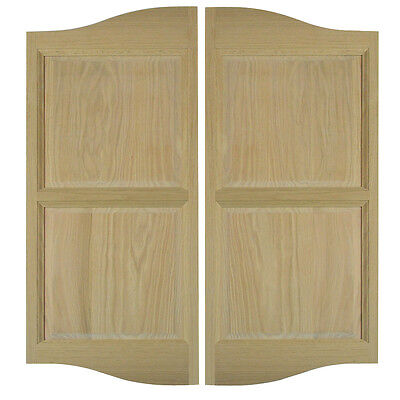 "Custom Swinging Cafe Saloon Doors Western Bar Pub Oak Wood Openings 36""-42"""