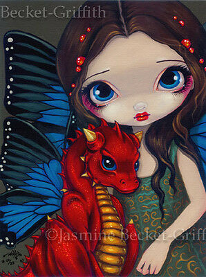 Baby Red Dragon gothic fairy fantasy art Jasmine Becket-Griffith CANVAS PRINT