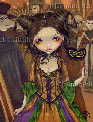At Masquerade Ball gothic Mardi Gras art Jasmine Becket-Griffith CANVAS PRINT