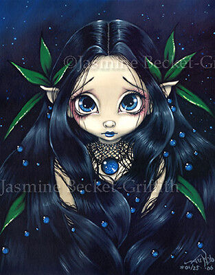 Lovely is the Night gothic star fairy art CANVAS PRINT