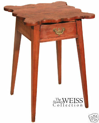 SWC-Cherry Hepplewhite Bedside Table, CT, c.1790