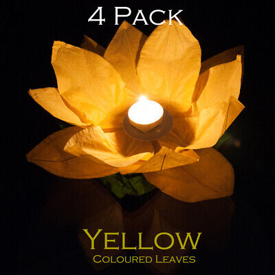Yellow Garden Or Water/pond Reusable Floating Lanterns