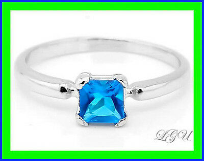 Sterling Silver Birth Month Cubic Zirconia December Child Ring Sz 4