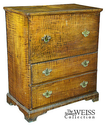 SWC-Exceptional Tiger Blanket Chest, NE, 1770