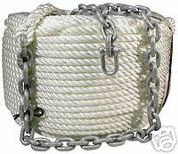 Anchor Winch Rope and Chain-14mm x 100Mtr + 10Mtr Chain