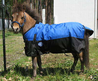 Miniature Horse, Miniature Donkey Waterproof Turnout Blanket w/Gussets & Lined