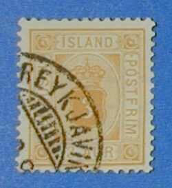 1898 Iceland 3A Official Stamp Scott#o10 Michel#3B Used