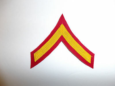 a0388p WW2 US USMC Dress Blue PFC Chevrons Marine Private First Class R6D