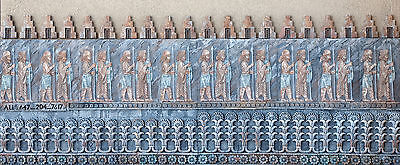 Iranian Persion Wall stone relief sculpture art Plaque Solder of Eastern Queen