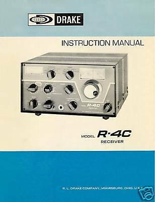 DRAKE  R-4C  INSTRUCTIONAL  MANUAL 41  PAGES  ON A CD
