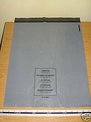 5 x Large Grey Mailing Bags Strong Parcel Sacks approx 400mm x 500mm 16 x 20 A15
