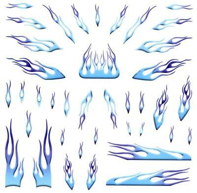 Pinewood Derby Car Blue Flames Decal