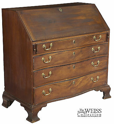 SWC-Serpentine Chippendale Desk, Boston c1790