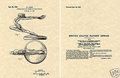1935 36 BUICK 96S HOOD ORNAMENT Patent Art Print READY TO FRAME!!!! sport